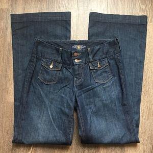 Lucky Brand Manhattan Trouser Wide Leg Jeans